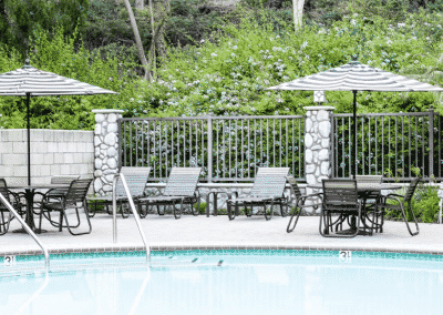 Sparkling pool at Crestwood Apartments