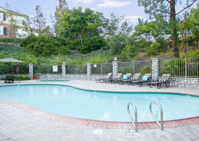Sparkling pool at Crestwood apartment homes