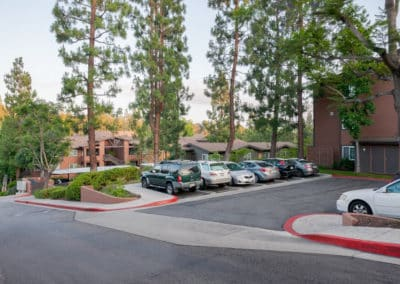 Open Parking area at Crestwood Apartment Homes